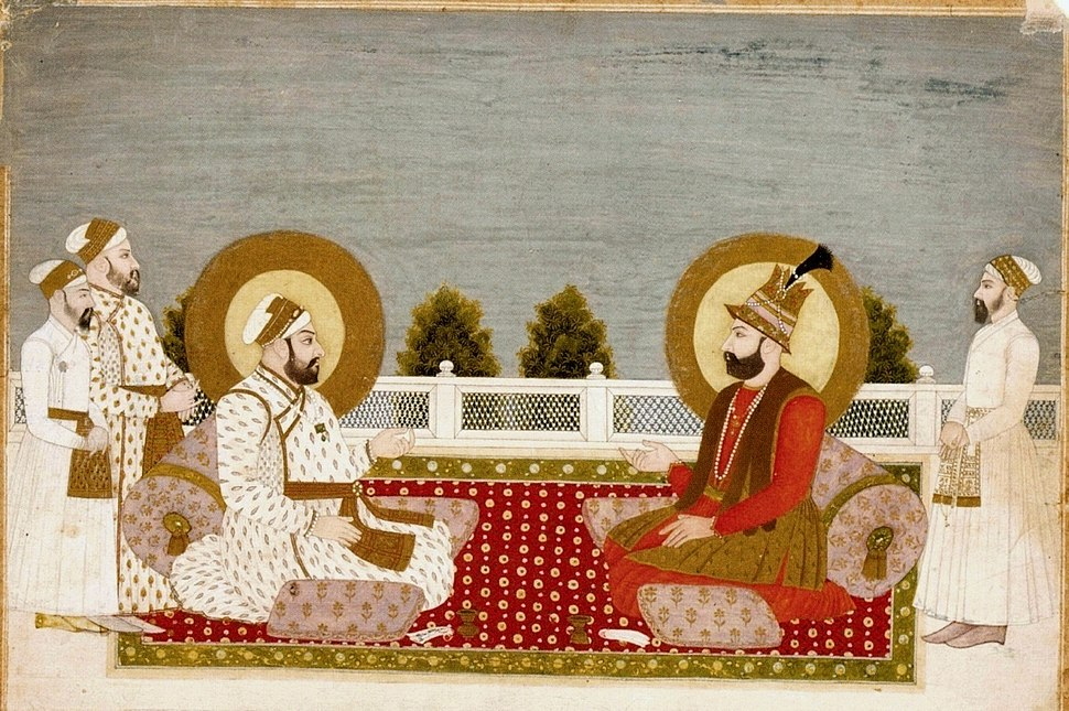 7 Muhammad Shah and Nadir Shah. 1740, Musee Guimet, Paris