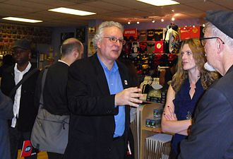 Jim Salicrup - Salicrup at a book signing for Dean Haspiel at Midtown Comics Grand Central in Manhattan, September 15, 2010