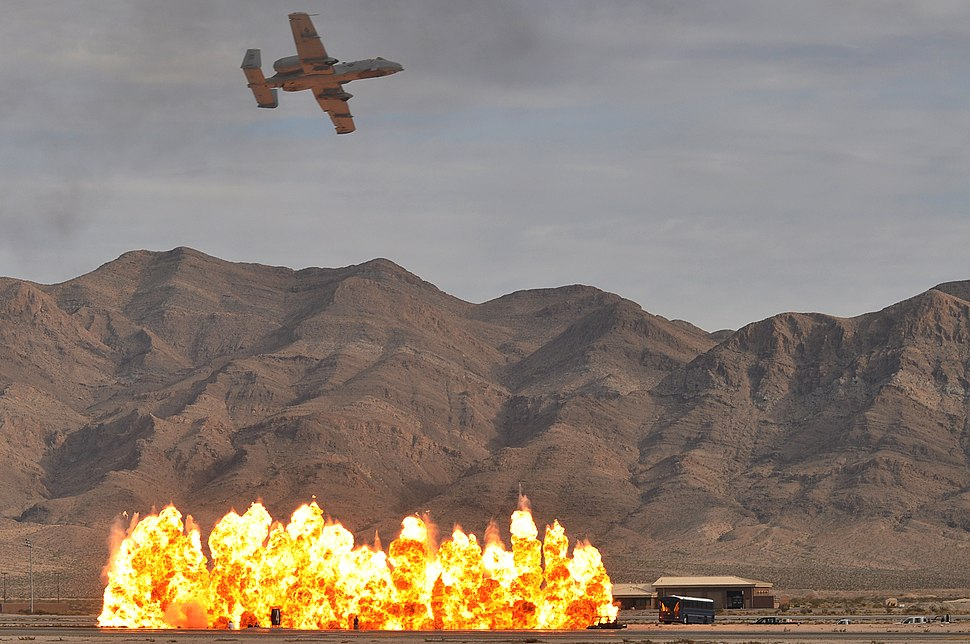 A-10 simulates close air support