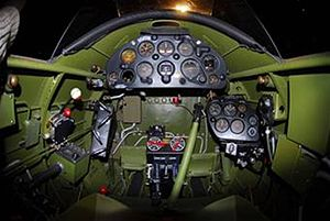 Northrop A-17 - A-17A cockpit