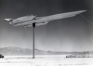 A-12 full scale model prepared for radar cross...