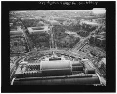 AERIAL VIEW SOUTHWEST ALONG DELAWARE AVENUE CORRIDOR FROM ABOVE UNION STATION. - Delaware Avenue, Washington, District of Columbia, DC HABS DC,WASH,592-4.tif