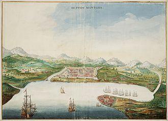 History of Manila - View of Manila, c. 1665