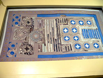 History of games - Board game with inlays of ivory, rock crystal and glass paste, covered with gold and silver leaf, on a wooden base (Knossos, New Palace period 1600–1500 BCE, Heraklion Archaeological Museum, Crete)