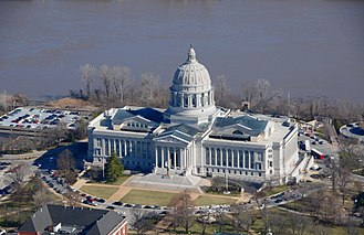 Missouri State Capitol - Missouri State Capitol showing the Missouri River in the background