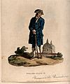 A Greenwich Pensioner with a wooden leg, standing in a lands Wellcome V0013368.jpg