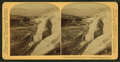 A Mountain of 'Petrified Water', Pulpit Terrace of Mammoth Springs and Mammoth Springs Hotel, Yellowstone Park, U.S.A, by Underwood & Underwood.png