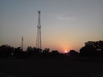 Bhandarpuri - A Sunset at School Playground Bhandarpuri