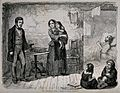 A drunkard stands before his poor family and swears by the H Wellcome V0019432.jpg