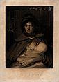 A female gipsy breast feeding her child. Mezzotint by H. Mey Wellcome V0015041.jpg