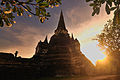 A great Stupa (Chedi) of Phrasrisanpetch Temple, Ayudtaya, Thailand.jpg