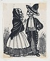 A male and female skeleton talking (vignette for the feast of the dead) MET DP867979.jpg