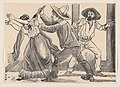 A man grabbing a woman by her sleeve and stabbing her, from a broadside entitled 'The murder of Leandra Martinez by her brother, Manuel' MET DP869597.jpg