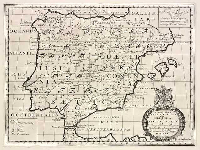 File:A new map of Iberia Europæa alias Celtiberia, or ... on