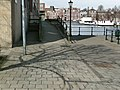 A photo of tree shadows on paving stones of the Plantage-kade; Amsterdam center, in spring of 2013.jpg