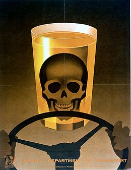 A skull in a drinking glass at the steering wheel of a motor Wellcome L0026402.jpg