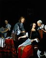 A surgeon binding up a woman's arm after bloodletting. Oil p Wellcome L0016891.jpg