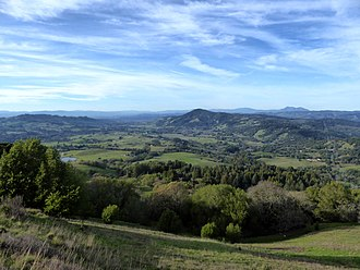 Sonoma Mountain - A view of Bennett Valley from North Sonoma Mountain Regional Park.jpg