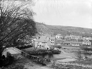 A view of Llansanffraid Glynceiriog from Hafod Wood