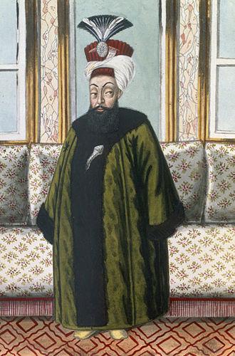 Nakşidil Sultan - The husband of Nakş-î Dil Sultân, Caliph of Islam, Ghazi Sultan Abdul Hamid I, Abd Al-Ḥamīd-i evvel I, عبد الحميد اول, Khan in his royal robes.
