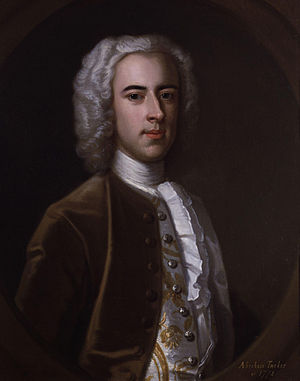 Abraham Tucker - 1739 portrait of Abraham Tucker by Enoch Seeman
