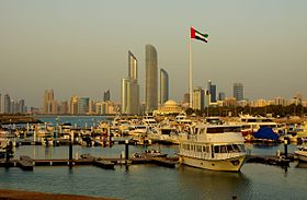 Abu Dhabi Skyline from Breakwaters Marina.jpg