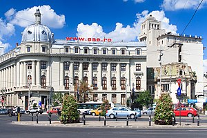Bucharest Academy of Economic Studies - The main building in Piața Romană