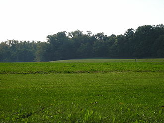 Oxford Township, Erie County, Ohio - Farm fields and woodlots are a common scene across Oxford Township.