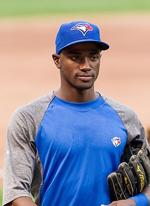 Adeiny Hechavarria - Hechavarria during his tenure with the Toronto Blue Jays in 2012