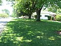 Adena Mound, lawn on northern edge with street.jpg