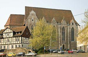 Aegidienkirche, Braunschweig - The Aegidienkirche and Ägidienmarkt from the north