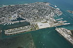 Aerial photo of Trumbo Point Annex of Naval Air Station Key West in April 2016.JPG