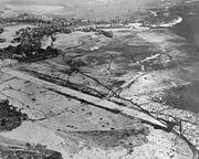 Aerial view of Henderson Field, Guadalcanal, in late August 1942