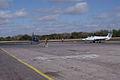 Aero Vodochody L-39C Albatros Blue7 Taxi In 05 past Aero Vodochody L-29 Delfin TICO 13March2010 (14599388765).jpg
