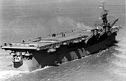 Aft view of USS Princeton (CV-23) underway on 28 March 1943 (19-N-42904)