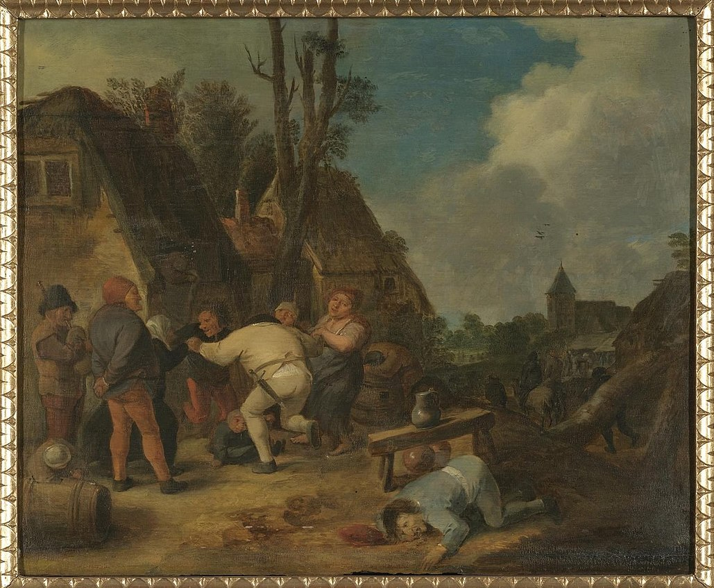 Peasants Carousing in front of an Inn