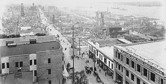 Great Fire of 1901 - Image: Aftermath of Great Fire of 1901