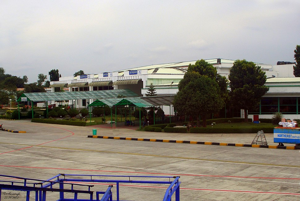 Agartala airport from the apron