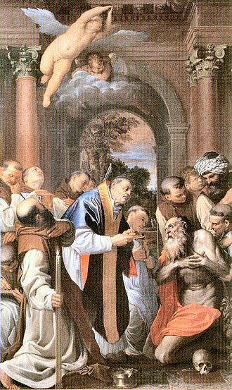 Agostino Carracci - The Communion of St. Jerome (1592) Pinacoteca Nazionale di Bologna