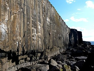 Ailladie - Climber on The Cutter (E4 6a), Mirror Wall, Ailladie