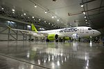 AirBaltic Bombardier CS300 mainenance (33221395885).jpg