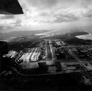 Harmon Air Force Base - Image: Air Depot Field Guam aerial photo January 1945