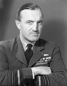 Portrait of moustachioed man in Royal Air Force winter uniform
