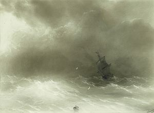 1856 in art - Image: Aivazovsky Strong Wind