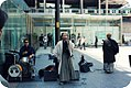 Akihabara kimono kenshin looking band, in Akihabara Station Center Square (2009-01-22 13.48.29 by Demionus).jpg