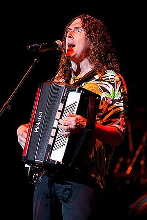 "Comedy music - ""Weird Al"" Yankovic performing live in concert during his 2010 tour"