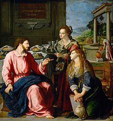 Christ at the house of Martha and Mary