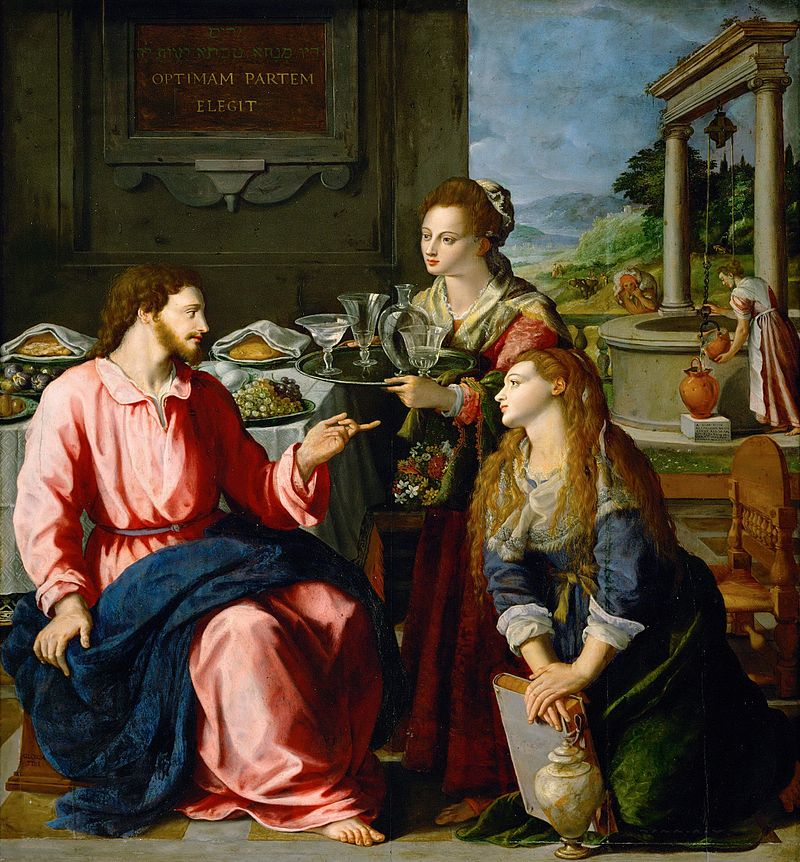 Christ with Mary and Martha, oil on wood, 125 x 118 cm Kunsthistorisches Museum