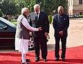 Alexander Lukashenko being received by the President, Shri Ram Nath Kovind and the Prime Minister, Shri Narendra Modi, at the Ceremonial Reception, at Rashtrapati Bhavan, in New Delhi (2).jpg