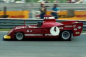 Andrea de Adamich - Andrea de Adamich 1974 at Nürburgring driving Alfa Romeo 33 TT 12